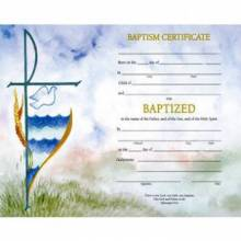 Baptism Certificates and Bulletins