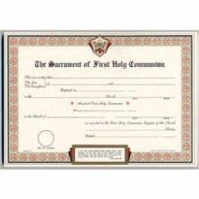First Communion Certificates
