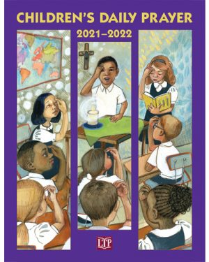 """Purple Book with image of children. Titled """"2021-2022 Children's Daily Prayer"""""""