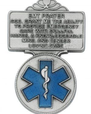 EMT Visor Clip with Blue Epoxy
